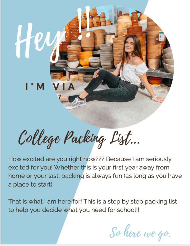 Step by Step College Packing List !